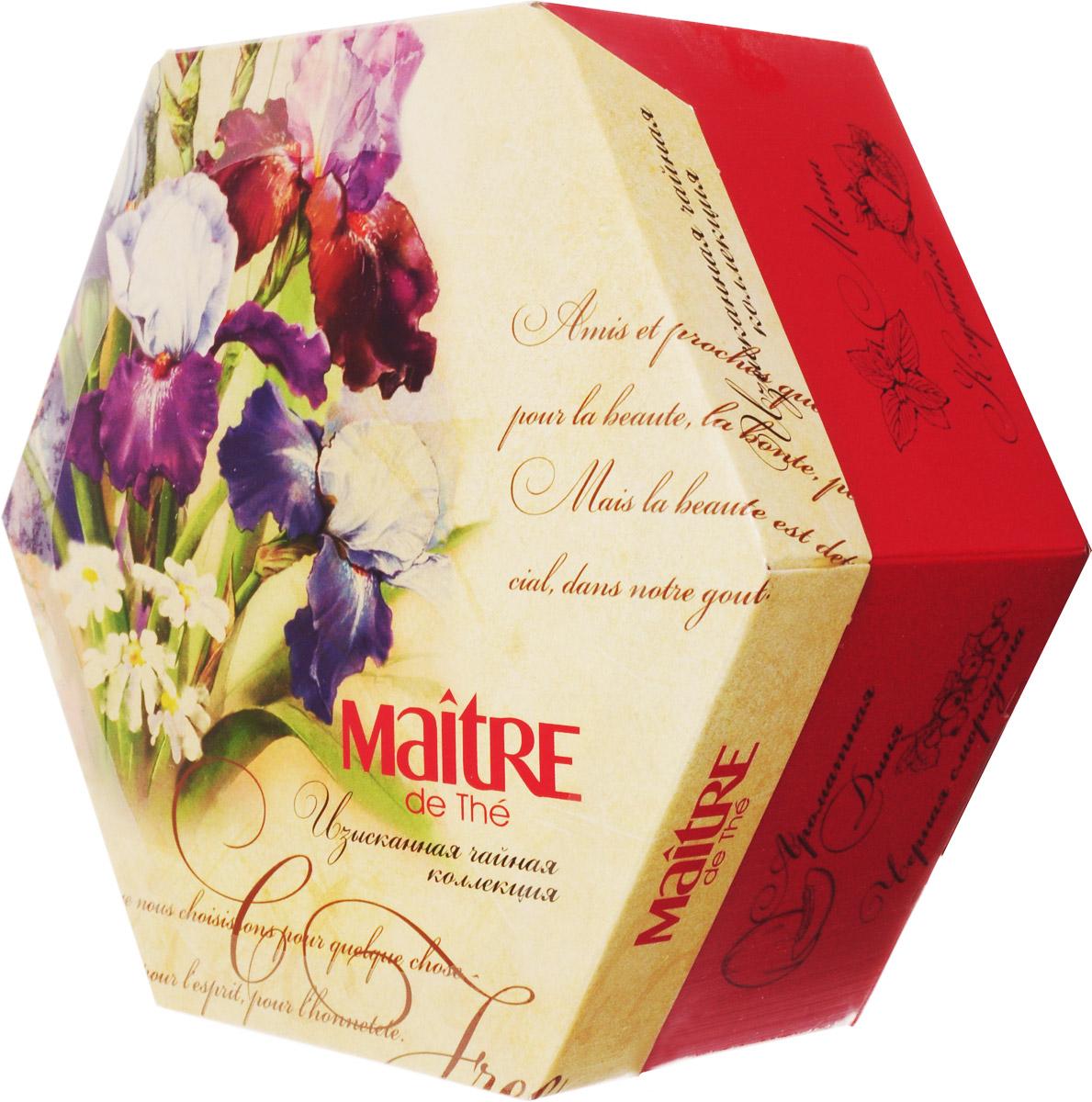 Maitre Изысканная чайная коллекция набор чая в пакетиках, 60 шт баж003_ирисы