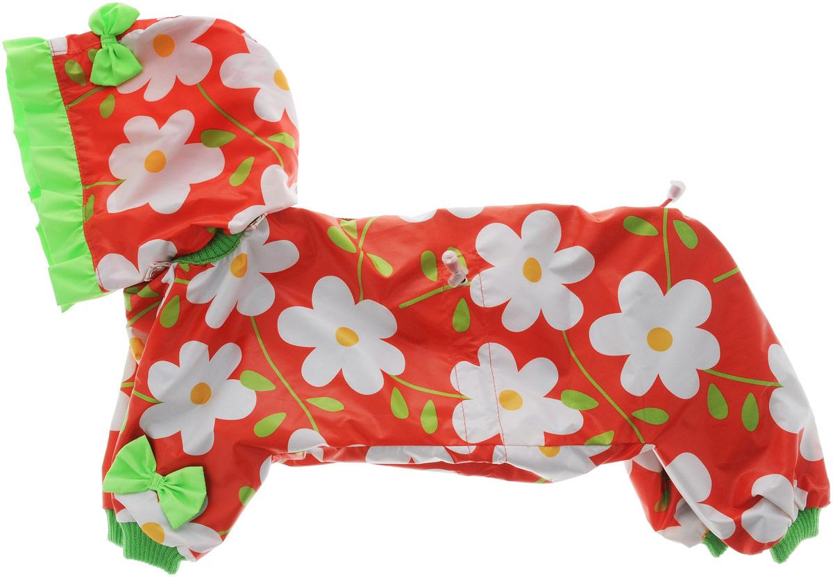 Комбинезон для собак Kuzer-Moda Мариска, для девочки, двухслойный, цвет: красный, белый. Размер 27 LKZ002574/красныйКомбинезон Kuzer-Moda Мариска предназначен для собак мелких пород. Изделие отлично подойдет для прогулок в прохладную погоду. Комбинезон изготовлен из прочной ткани, которая сохранит тепло и обеспечит отличный воздухообмен. Комбинезон застегивается на кнопки и липучки, благодаря чему его легко надевать и снимать. Ворот, низ рукавов и брючин оснащены резинками, которые мягко обхватывают шею и лапки, не позволяя просачиваться холодному воздуху. На пояснице имеются затягивающиеся шнурки, которые также помогают сохранить тепло. Благодаря такому комбинезону простуда не грозит вашему питомцу, и он не даст любимцу продрогнуть на прогулке. Размер: 27 L. Обхват: груди: 50 см. Обхват шеи: 18 см.