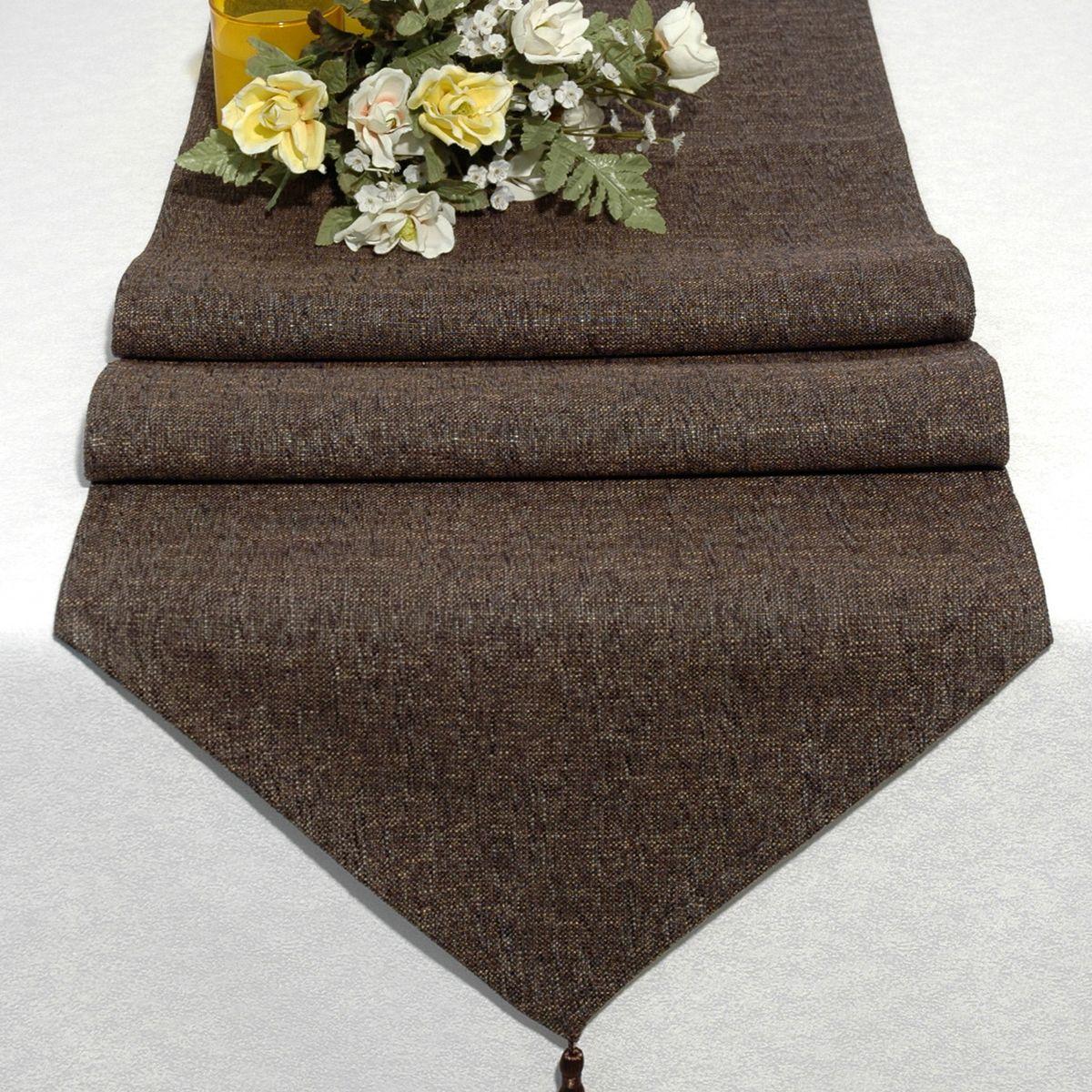 Дорожка для декорирования стола Schaefer, 40 x 160 см, цвет: коричневый. 06749-25480653Дорожка для декорирования стола Schaefer может быть использована, как основной элемент, так и дополнение для создания уюта и романтического настроения.Дорожка выполнена из полиэстера. Изделие легко стирать: оно не мнется, не садится и быстро сохнет, более долговечно, чем изделие из натуральных волокон.Материал: полиэстер, акрил Размер: 40 x 160 см.
