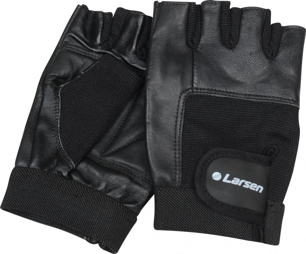 Перчатки для фитнеса Larsen NT506, цвет: черный. Размер L232222Усиление на ладони дополнительной кожаной вставкой: + Удобная застежка «stick» для фиксации на руке: + Синтетическая вставка на тыльной стороне ладони: + Материал: натуральная кожа