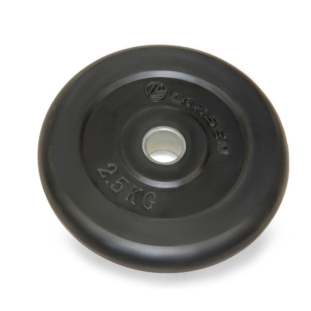 Диск обрезиненный Larsen NT121, d 25,6 мм, 2,5 кг232232Внутренний диаметр диска: 25,6 мм Внешний диаметр диска: 18,5 см Толщина диска: 2,35 см Материал: сталь, резина