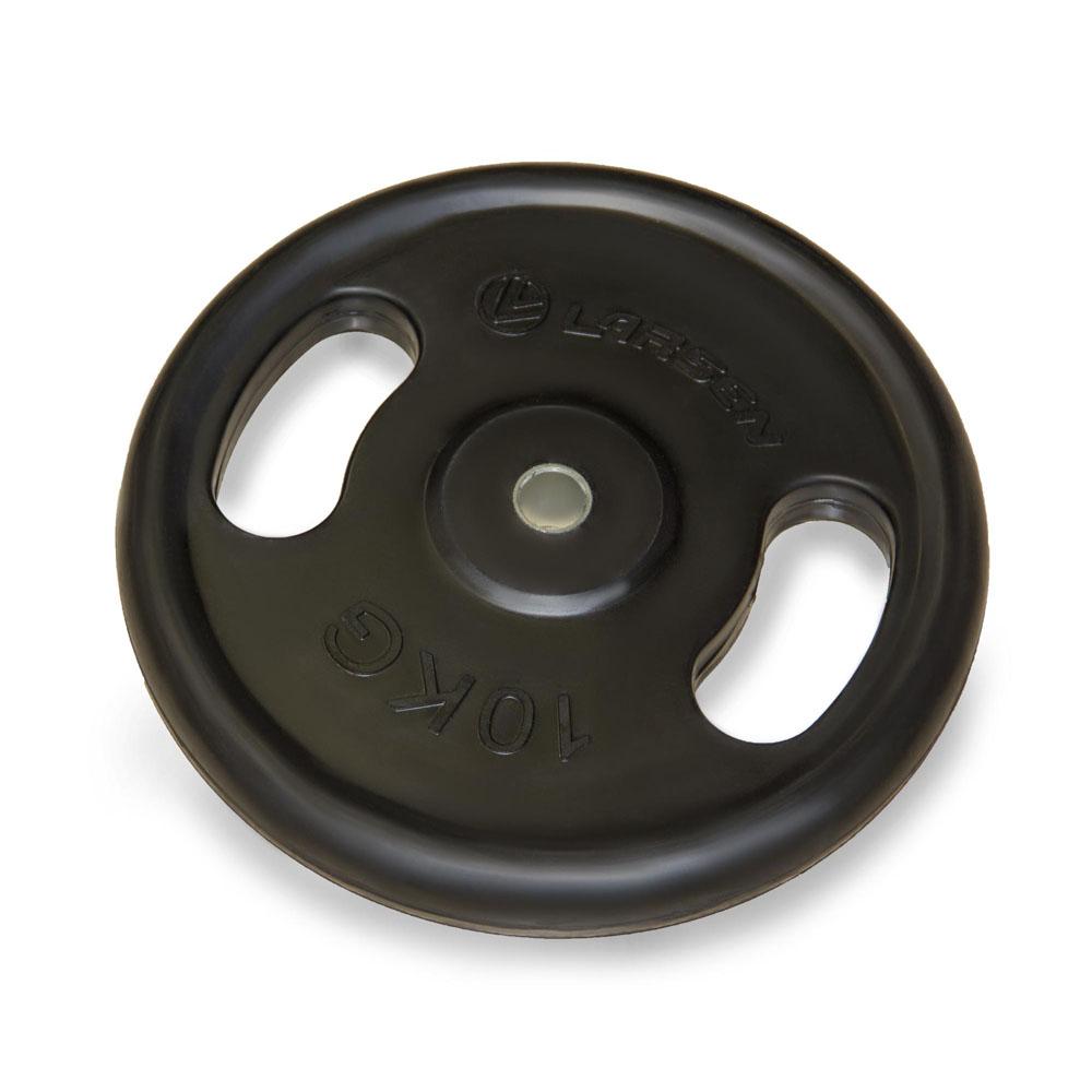 Диск обрезиненный Larsen NT121N, d 25,6 мм, 10 кг305884Внутренний диаметр диска: 25,6 мм Внешний диаметр диска: 35,5 см Толщина диска: 3,9 см Материал: сталь, резина