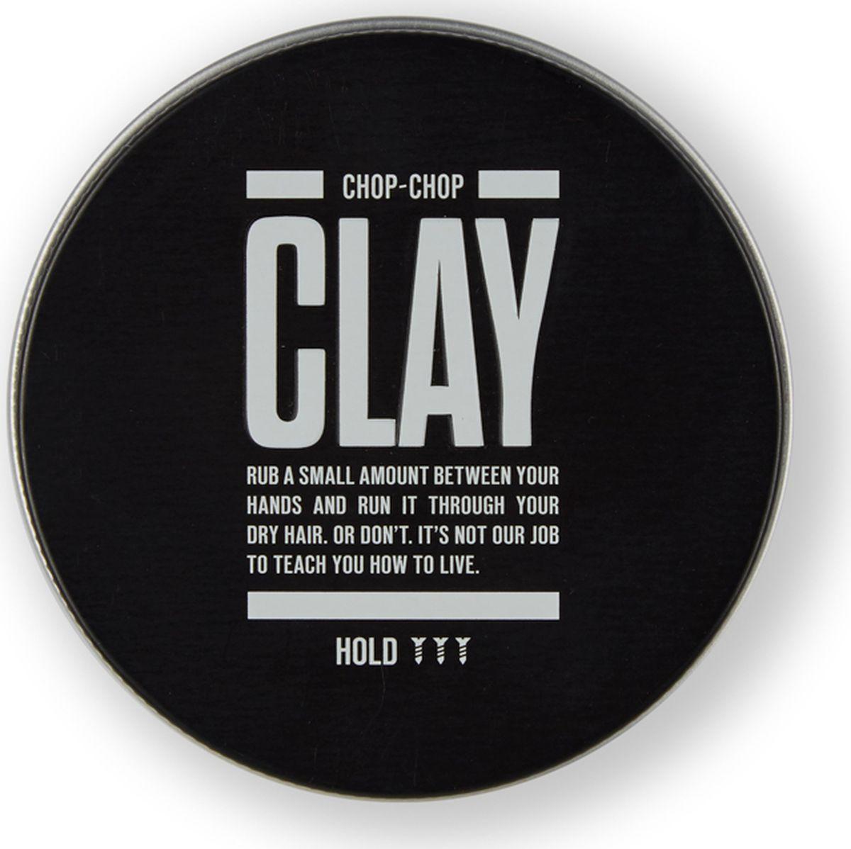 Chop-Chop Глина для волос, 100 млCHPCHP.CLAY.BГлина для укладки волос с сильной фиксацией, которая идеальна для классических коротких мужских стрижек. Эта глина вобрала в себя весь парикмахерский опыт мастеров Chop-Chop. Фиксация: 3/3 Текстура: матовый эффект Объем: 100 мл