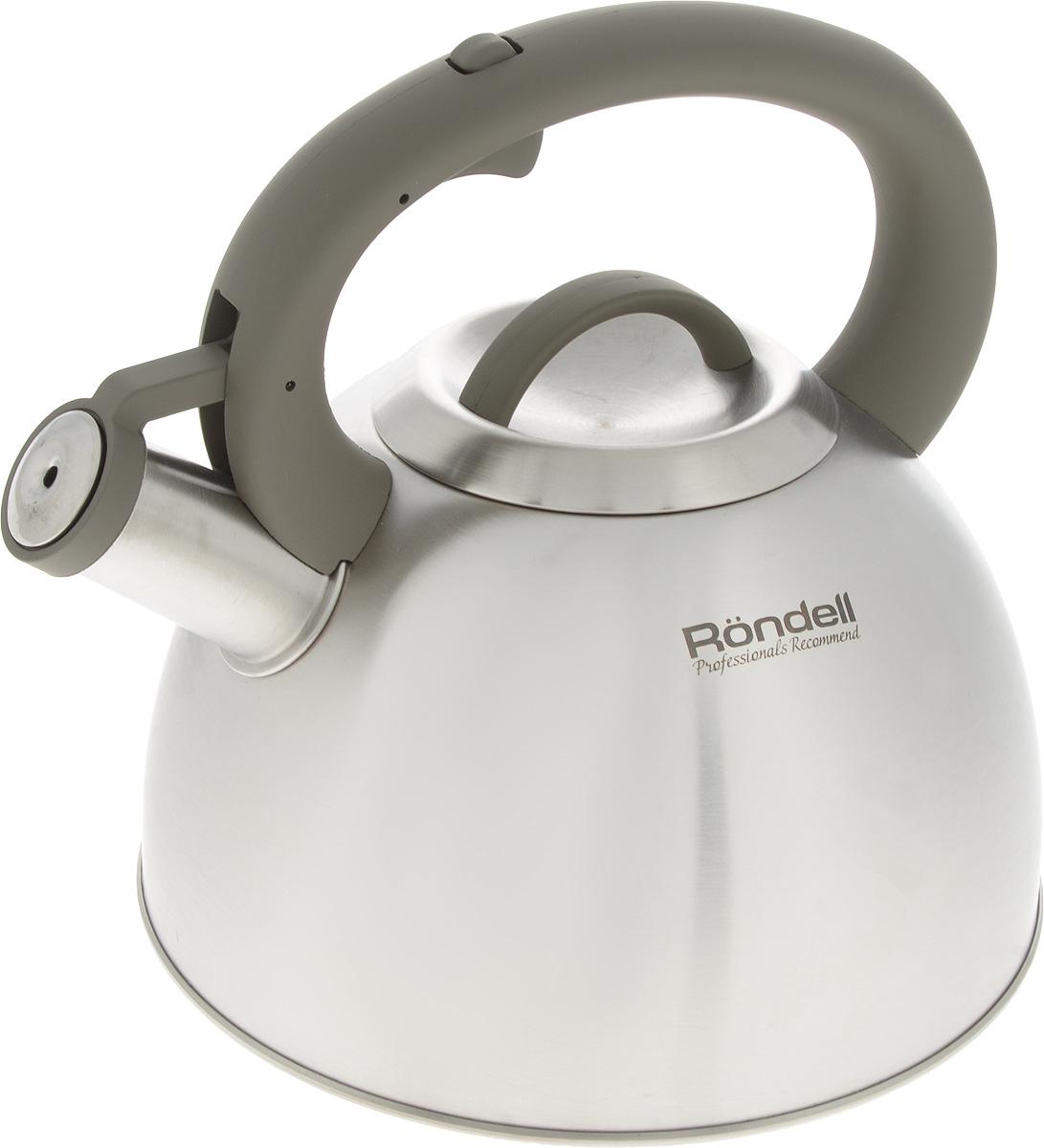 Чайник Rondell Balance, со свистком, 3 лRDS-434Чайник Rondell Balance изготовлен из высококачественной нержавеющей стали 18/10 с матовой полировкой. Нержавеющая сталь обладает высокой устойчивостью к коррозии, не вступает в реакцию с холодными и горячими продуктами и полностью сохраняет их вкусовые качества. Чайник оснащен фиксированной ручкой из бакелита с покрытием Soft-Touch. Носик чайника имеет откидной свисток, звуковой сигнал которого подскажет, когда закипит вода. Благодаря чайнику Rondell Balance, вы будете постоянно ощущать тепло и уют на вашей кухне. Подходит для всех типов плит, включая индукционные. Можно мыть в посудомоечной машине. Диаметр (по верхнему краю): 10 см. Высота (без учета ручки и крышки): 13 см. Высота (с учетом ручки): 23 см