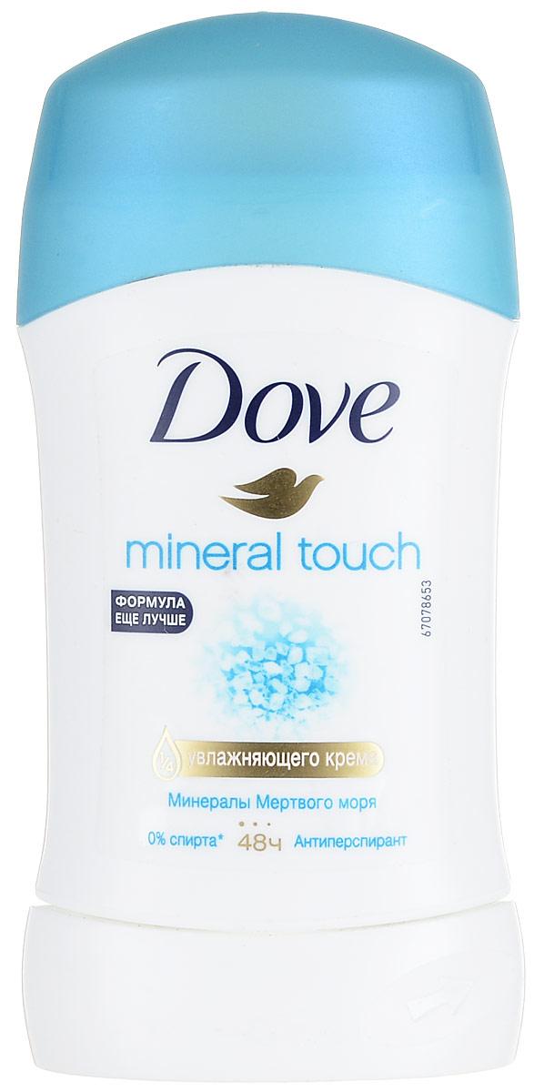 Dove Антиперспирант карандаш Прикосновение природы 40 мл21134119Антиперсипрант Dove Прикосновение природы - обеспечивает защиту от пота на 48 часов и на 1/4 состоит из особенного увлажняющего крема, который способствует восстановлению кожи после бритья, делая ее более гладкой и нежной - Содержит минералы мертвого моря, известные своими природными свойствами увлажнять кожу