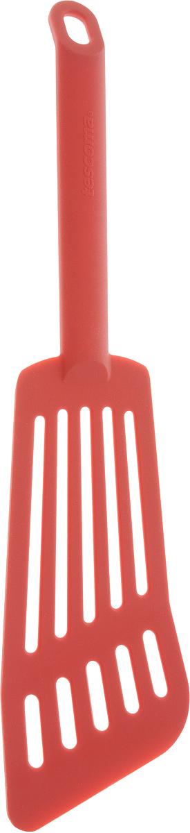 Лопатка для омлета Tescoma Space Tone, цвет: красный, длина 30 см638056Лопатка Tescoma Space Tone изготовлена из высококачественного термостойкого нейлона, выдерживающего температуру до 210°С, и предназначена для переворачивания и подачи омлета. Такая кухонная принадлежность подходит для всех видов посуды, а также для посуды с антипригарным покрытием. Лопатка Tescoma Space Tone станет вашим незаменимым помощником на кухне, а также это практичный и необходимый подарок любой хозяйке! Можно мыть в посудомоечной машине. Общая длина лопатки: 30 см. Размер рабочей поверхности: 16 х 7,5 см.