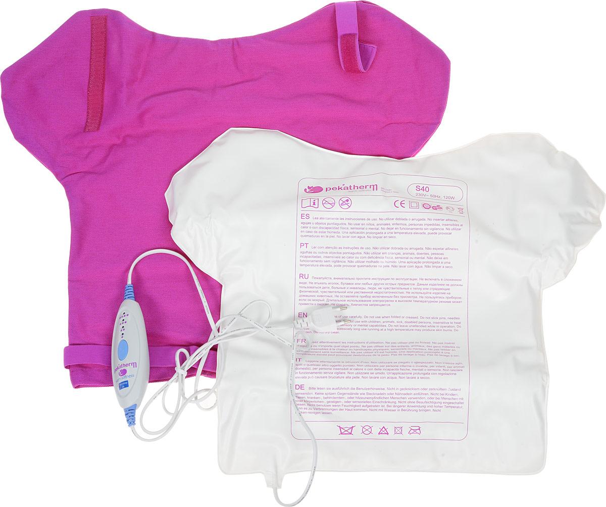 Грелка для спины Pekatherm S40S40Электрогрелка Pekatherm S40 охватывает обширную зону спины, шеи и плеч, избавляя от напряжения и боли, благодаря лечебному эффекту мягкого тепла. Суть любой грелки - тепло. Тепло - это инструмент заботы о здоровье, тепло - источник отличного самочувствия. Оно помогает нам справляться с болезнями, такими как остеохондроз, артроз, переломы и вывихи, неврит, радикулит, невралгии, циститы, помогает нам нормализовать функции организма после длительного пребывания на холоде. Впрочем, тепло полезно не только с медицинской точки зрения. Комфорт, спокойствие, отдых, уют - это первое, что приходит на ум. Мягкая, приятная теплота избавит от депрессии, подарит чувство уверенности и защищенности, поможет расслабиться и просто поднимет вам настроение! Температура нагрева от 50 до 70 градусов, в зависимости от выбранного режима. Электрогрелка сделана из приятного на ощупь практичного пластика, который легко моется, обладает нейтральным запахом и не вызывает аллергических реакций, что подтверждено...