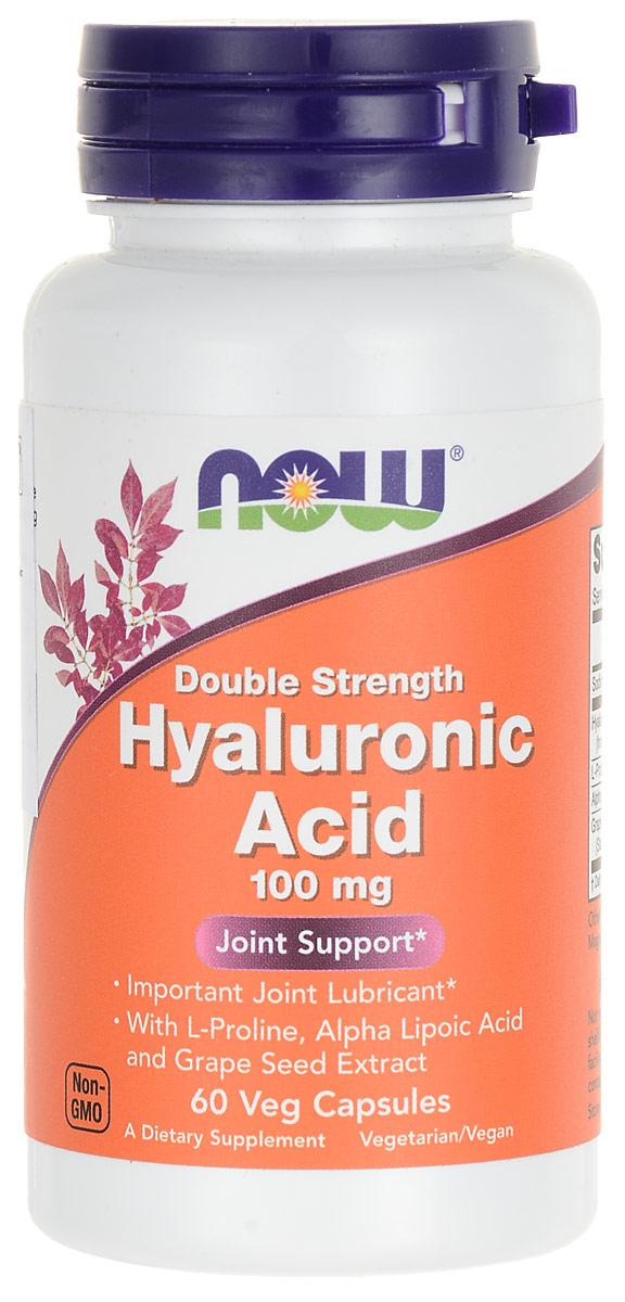 "Средство для кожи Now Foods Nutrition ""Hyaluronic Acid"", 100 мг, 60 капсул NF3155"