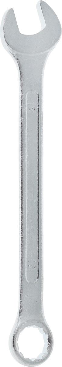 Ключ гаечный комбинированный Helfer, 15 ммHF002009Комбинированный ключ Helfer предназначен для работы с резьбовыми соединениями. Разрезные головки ключей обеспечивают надежный обхват детали и большой крутящий момент. Размеры зева (отверстия) отвечают всем стандартам. Ключ выполнен из углеродистой стали, которая отличается повышенной прочностью. Такой инструмент станет отличным помощником монтажнику или владельцу авто. Длина ключа: 19 см. Диаметр головки: 15 мм.