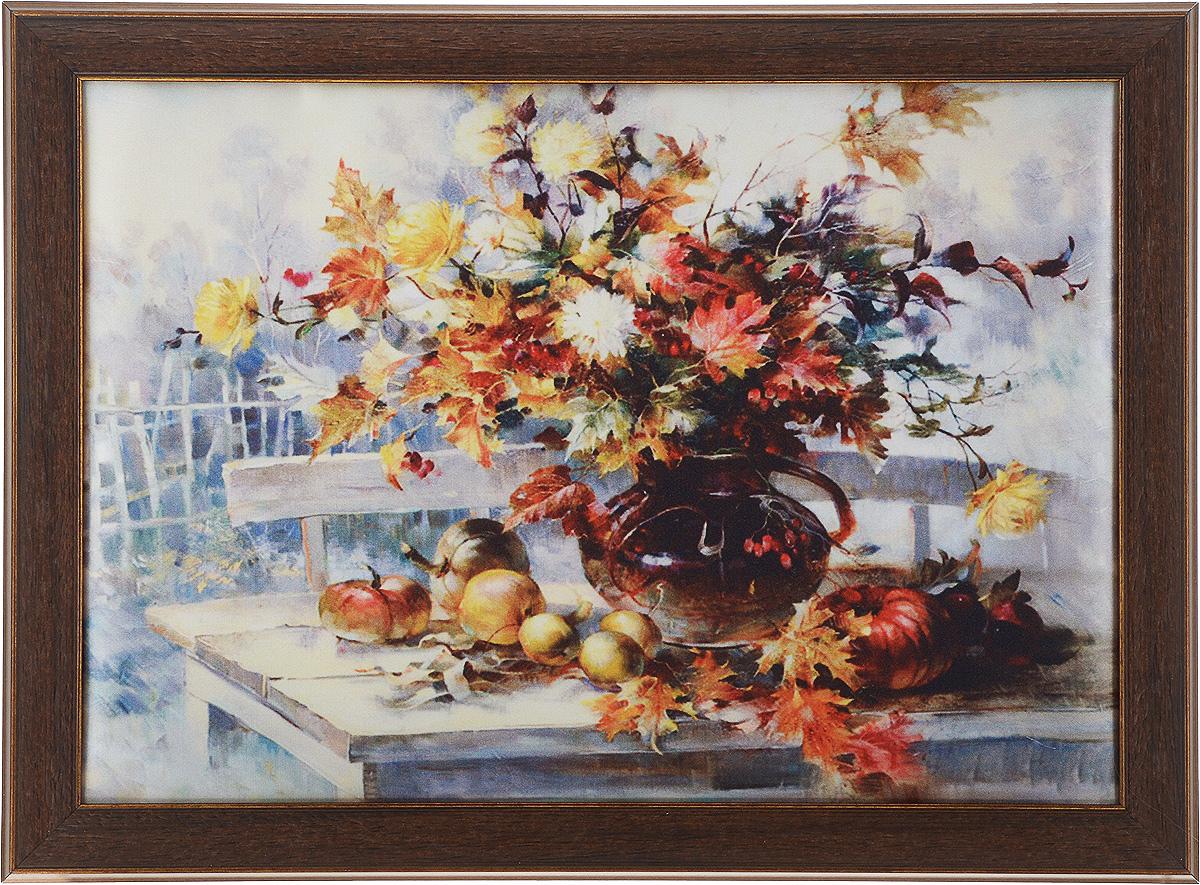 Картина в раме Рапира Краски осени, 38 х 28 см985Оригинальная картина Рапира Краски осени поможет украсить интерьер, придаст обстановке безмятежность и шик. Рисунок картины выполнен на гладком текстиле. Изделие оформлено в красивую рамку под дерево. Задняя часть картины оснащена двумя петельками для подвешивания. Картина Краски осени идеально подойдет к любому интерьеру и станет отличным подарком. Размер картины (без учета рамки): 33 х 23 см.