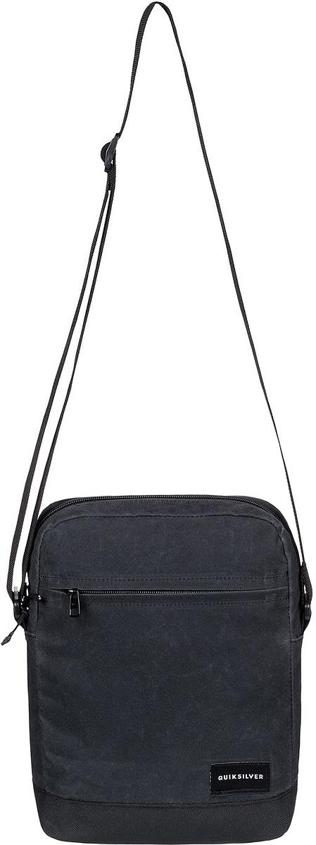 Сумка на плечо мужская Quiksilver Magic XL, цвет: черный. EQYBA03067-KVAWММ-619-3/1Мужская сумка на плечо Quiksilver выполнена из полиэстера. Модель с одним основным отделением застегивается на молнию, передняя стенка дополнена карманом на молнии. У изделия регулируемая по длине плечевая лямка.