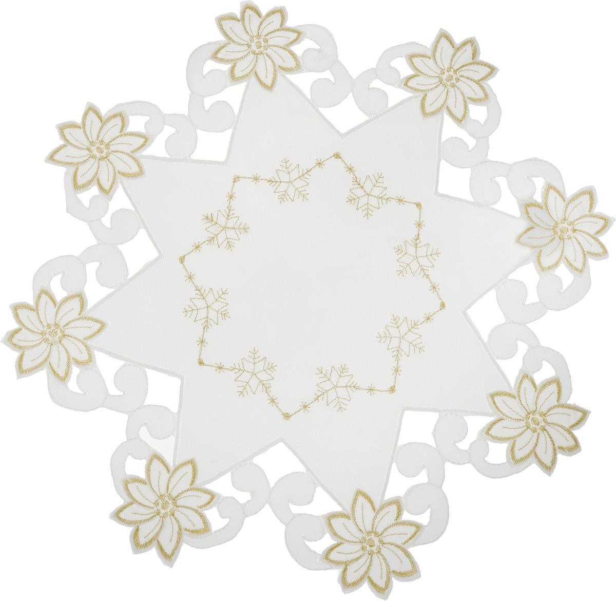 Салфетка Schaefer , круглая, цвет: молочный, золотистый, диаметр 38 см. 07803-31607803-316Круглая салфетка Schaefer, выполненная из полиэстера, оформлена декоративной перфорацией и вышивкой. Дизайнерские идеи немецких художников компании Schaefer воплощаются в текстильных изделиях, которые сделают ваш дом красивее и уютнее и не останутся незамеченными вашими гостями. Дарите себе и близким красоту каждый день! Диаметр салфетки: 38 см.