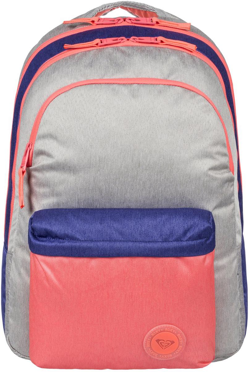 Рюкзак женский Roxy Slow Emotion, цвет: мультиколор. ERJBP03472-MCZ0ERJBP03472-MCZ0Женский рюкзак Roxy выполнен из текстиля. У модели три основных отделения. Передний и боковые карманы на молнии. Рюкзак с регулируемыми по длине плечевыми лямками и петлей для подвешивания.