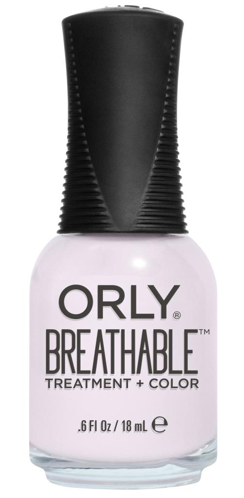 Orly Профессиональный дышащий уход (цвет) за ногтями 909 LIGHT AS A FEATHER 18 мл1301210Бренд ORLY разработал первый профессиональный цветной дышащий уход за ногтями BREATHABLE. Инновационная дышащая технология BREATHABLE создаёт на ногте проницаемую пленку, позволяющую кислороду, влаге и активным ингредиентам препарата достигать поверхности ногтя. BREATHABLE от ORLY — уход и цвет в одном флаконе!Преимущества BREATHABLE от ORLY: 1. Способствует росту и укреплению ногтей благодаря дышащей технологии и формуле с аргановым маслом, витамином С и провитамином В5. 2. Формула «Все в одном» позволяет наносить BREATHABLE без использования базового и верхнего покрытий. 3. Запатентованная плоская кисть для удобного нанесения. · 4. Стойкость.Палитра BREATHABLE от ORLY — это роскошные оттенки и прозрачный блеск-уход для ультраглянца.Стильный маникюр и профессиональный уход – это новинка BREATHABLE от ORLY!