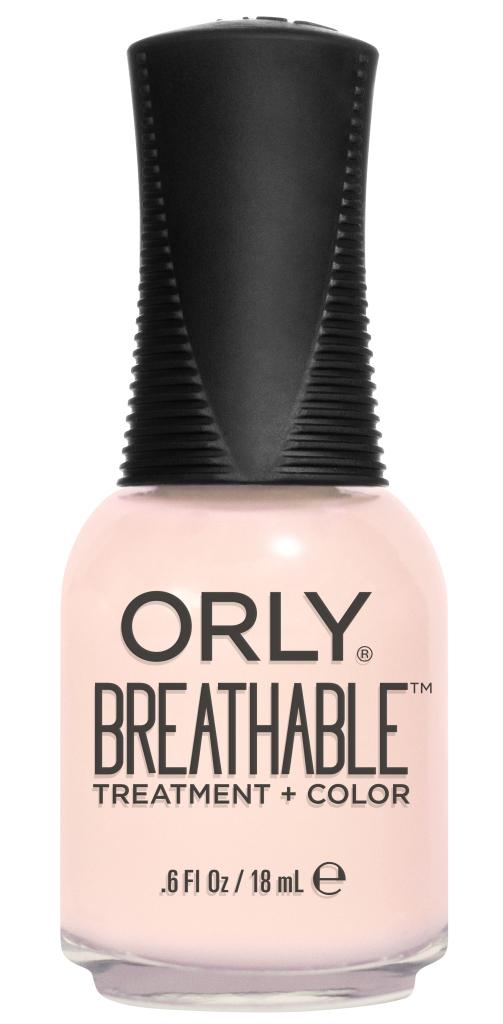 Orly Профессиональный дышащий уход (цвет) за ногтями 914 REHAB 18 млDB4010(DB4.510)_белоснежкаБренд ORLY разработал первый профессиональный цветной дышащий уход за ногтями BREATHABLE. Инновационная дышащая технология BREATHABLE создаёт на ногте проницаемую пленку, позволяющую кислороду, влаге и активным ингредиентам препарата достигать поверхности ногтя. BREATHABLE от ORLY — уход и цвет в одном флаконе!Преимущества BREATHABLE от ORLY: 1. Способствует росту и укреплению ногтей благодаря дышащей технологии и формуле с аргановым маслом, витамином С и провитамином В5. 2. Формула «Все в одном» позволяет наносить BREATHABLE без использования базового и верхнего покрытий. 3. Запатентованная плоская кисть для удобного нанесения. · 4. Стойкость.Палитра BREATHABLE от ORLY — это роскошные оттенки и прозрачный блеск-уход для ультраглянца.Стильный маникюр и профессиональный уход – это новинка BREATHABLE от ORLY!