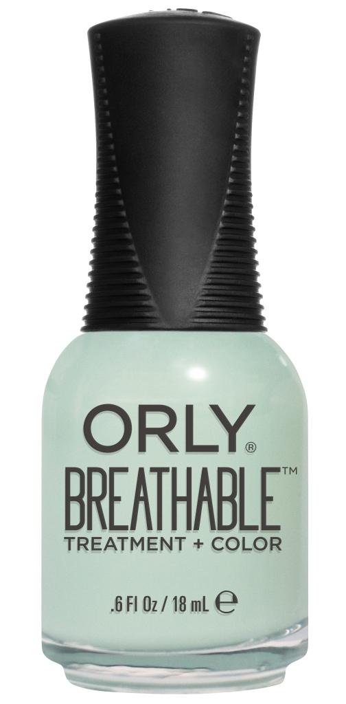 Orly Профессиональный дышащий уход (цвет) за ногтями 917 FRESH START 18 мл20917Бренд ORLY разработал первый профессиональный цветной дышащий уход за ногтями BREATHABLE. Инновационная дышащая технология BREATHABLE создаёт на ногте проницаемую пленку, позволяющую кислороду, влаге и активным ингредиентам препарата достигать поверхности ногтя. BREATHABLE от ORLY — уход и цвет в одном флаконе! Преимущества BREATHABLE от ORLY: 1. Способствует росту и укреплению ногтей благодаря дышащей технологии и формуле с аргановым маслом, витамином С и провитамином В5. 2. Формула «Все в одном» позволяет наносить BREATHABLE без использования базового и верхнего покрытий. 3. Запатентованная плоская кисть для удобного нанесения. · 4. Стойкость. Палитра BREATHABLE от ORLY — это роскошные оттенки и прозрачный блеск-уход для ультраглянца. Стильный маникюр и профессиональный уход – это новинка BREATHABLE от ORLY!