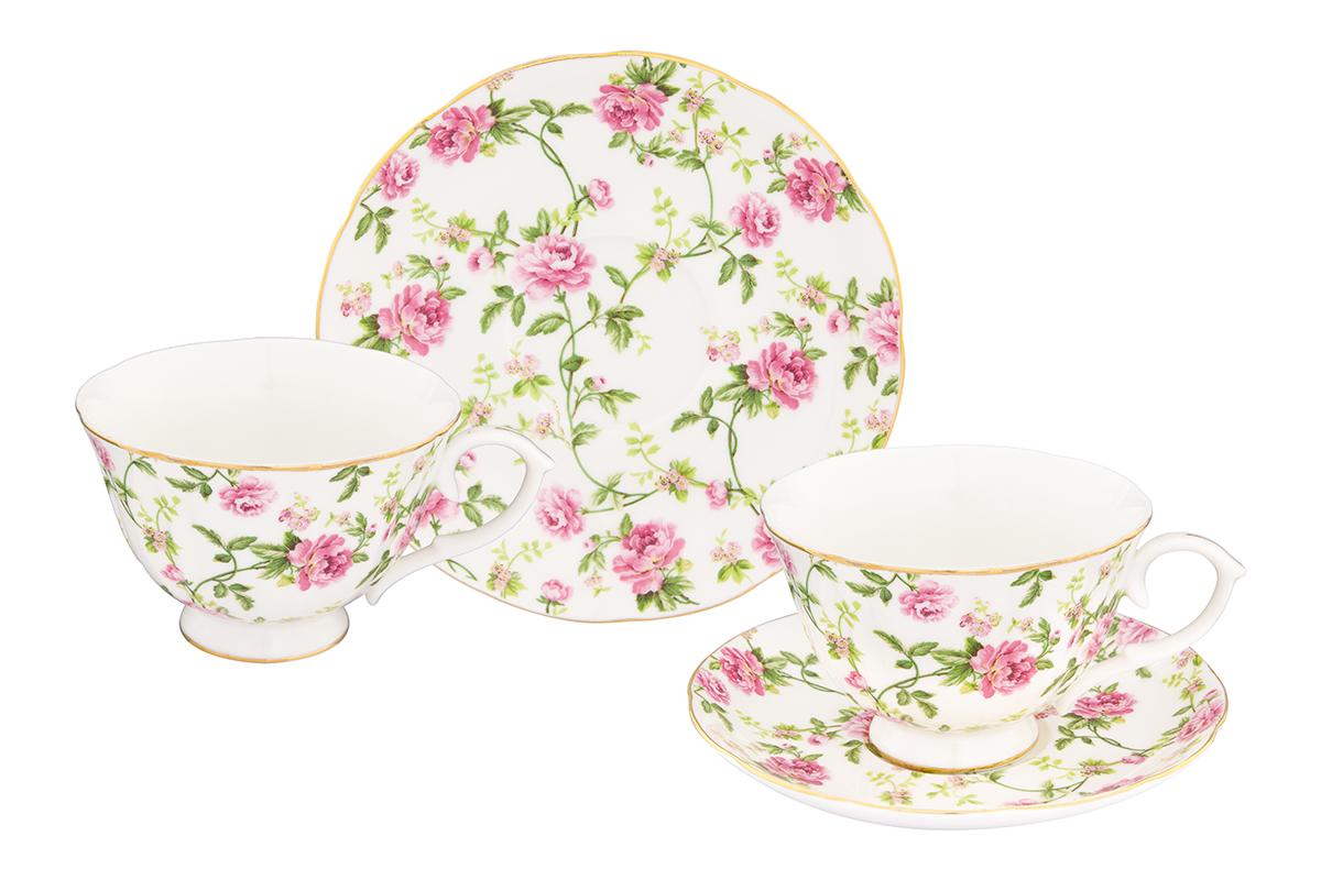 Набор чайный Elan Gallery Плетистая роза, 4 предмета115510Чайный набор с изумительным цветочным декором на 2 персоны украсит Ваше чаепитие. В комплекте 2 чашки объемом 250 мл, 2 блюдца. Изделие имеет подарочную упаковку, поэтому станет желанным подарком для Ваших близких! Соберите всю коллекцию предметов сервировки Плетистая роза и Ваши гости будут в восторге!