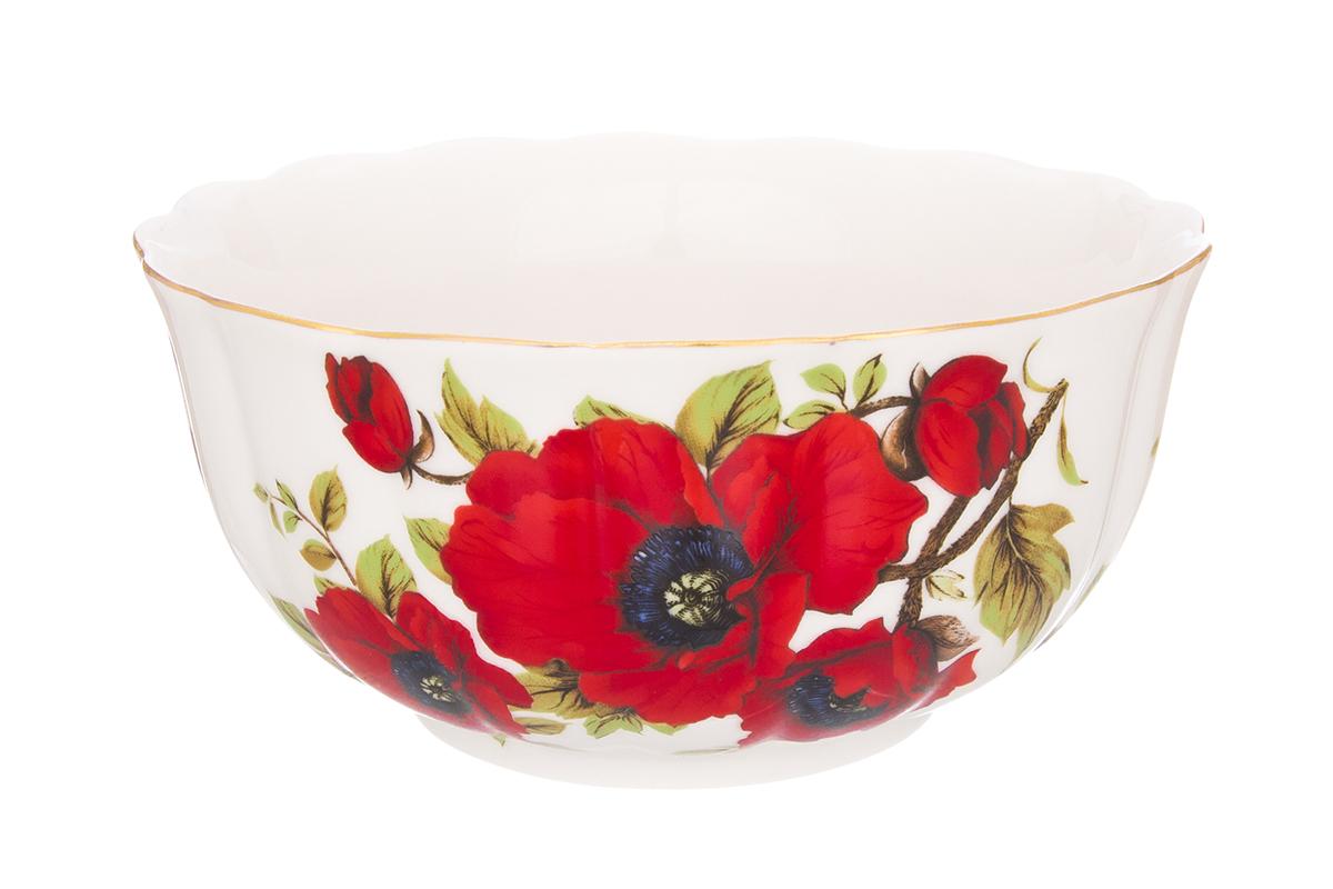 Салатник Elan Gallery Маки, 850 мл740324Великолепный салатник Elan Gallery Маки, изготовленный из высококачественного фарфора, прекрасно подойдет для подачи различных блюд: закусок, салатов или фруктов. Такой салатник украсит ваш праздничный или обеденный стол, а оригинальное исполнение понравится любой хозяйке. Не рекомендуется применять абразивные моющие средства. Не использовать в микроволновой печи. Диаметр салатника (по верхнему краю): 16 см. Высота салатника: 8,5 см.