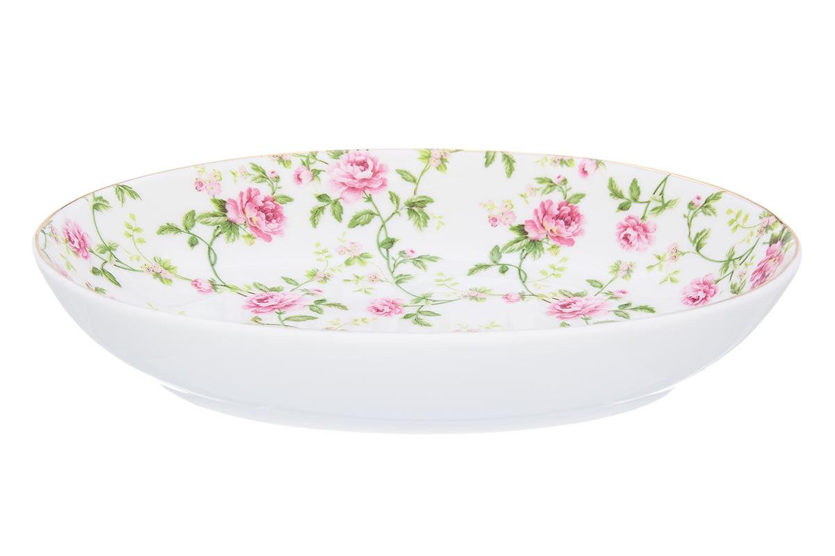 Блюдо Elan Gallery Плетистая роза, 22 х 16 х 4 см740476Блюдо для слоеных салатов - это прекрасный вариант сервировки. Размер этого блюда подходит и для подачи горячего, и для приготовления и хранения слоеных салатов. Соберите всю коллекцию предметов сервировки Плетистая роза и Ваши гости будут в восторге! Изделие имеет подарочную упаковку, поэтому станет желанным подарком для Ваших близких! Объем блюда: 600 мл.
