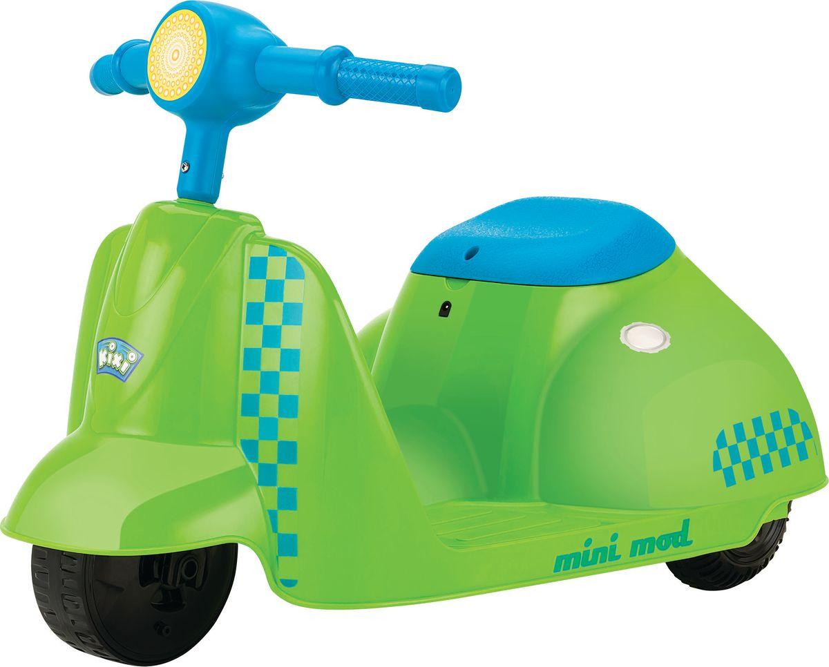Электросамокат детский Razor Mini Mod, цвет: зеленый, голубойSF 0085Стильный электрический самокат Razor Mini Mod, выполненный из пластика в виде скутера, предназначен для самых маленьких райдеров. Яркий, красивый, надежный электроскутер подарит вашему ребенку массу эмоций, улыбок и радости! Особенности:- Запас хода на 40 минут.- Адаптированный мотор для маленьких райдеров.- АКБ свинцово-кислотные на 6 В.- Педаль активации мотора.- Помогает стимулировать и развивать координацию.Возраст: от 3 лет.Для детей ростом: от 80 до 120 см.Максимальная скорость: 3,5 км/час.Максимальная нагрузка: 20 кг.Ширина руля: 37 см.Размер изделия (ДхШ): 63 х 38 см.