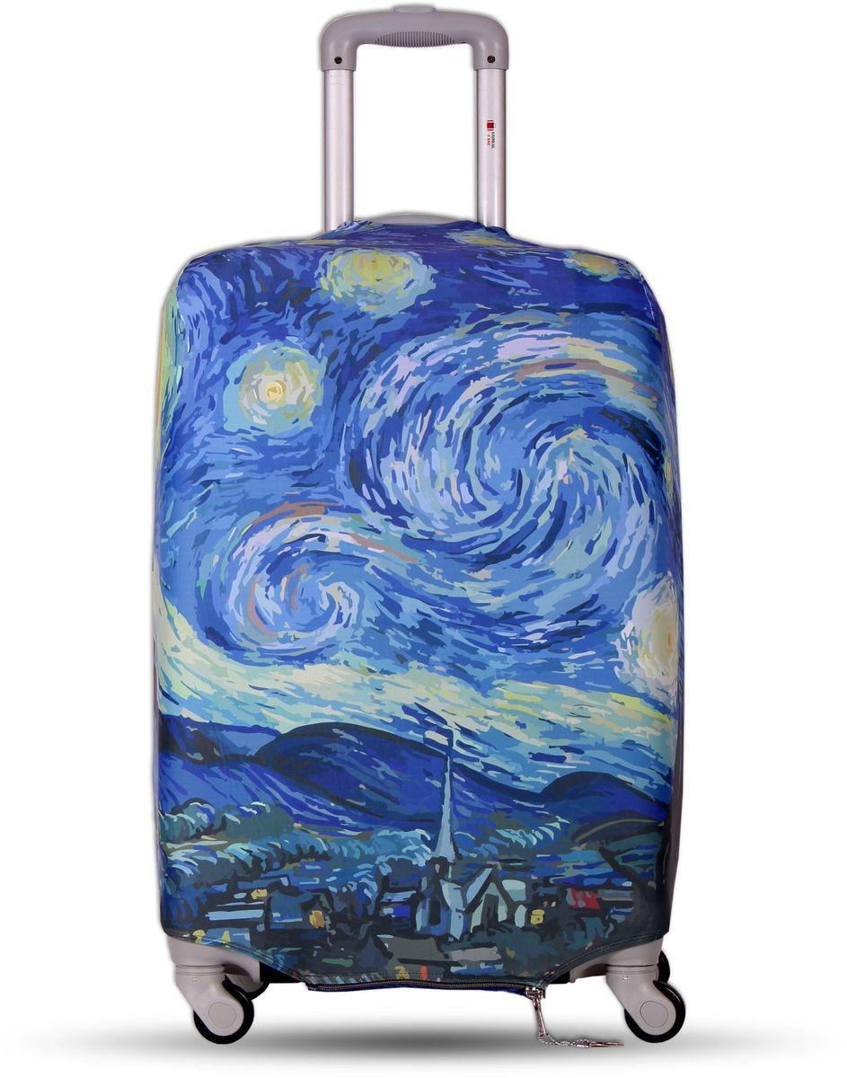 """Чехол для чемодана Fancy Armor """"Travel Suit Eco. Звездная ночь"""", размер M/L (52-65 см) FTS_ECO_030"""