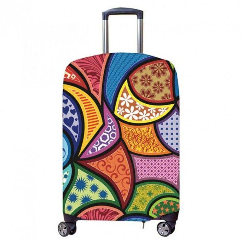 Чехол для чемодана Fancy Armor Travel Suit Eco. Калейдоскоп, размер XL (60-75 см)FTS_ECO_802Чехол размера XL предназначен для чемоданов высотой 65-75 см. Универсальный эластичный чехол для большого чемодана защищает чемодан и вещи от грязи и повреждений, заменяет пленку в аэропорту и позволяет сэкономить время и деньги на упаковке багажа, а также поможет безошибочно отличить свой чемодан. Запатентованная выкройка обеспечивает идеальную посадку, а высокое качество пошива и используемых материалов (ткань плотностью 240г/м2) гарантирует долгую службу чехла. Обработанные силиконовой резинкой вырезы специальной формы обеспечивают удобный доступ ко всем ручкам чемодана..