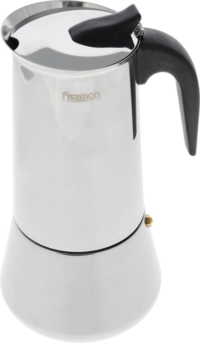 Кофеварка гейзерная Fissman, на 12 порций, 825 млEM-9413.12Гейзерная кофеварка Fissman рассчитана на приготовление 12 чашек напитка. Корпус кофеварки, выполненный из высококачественной нержавеющей стали, снаружи имеет полированную поверхность. Ручка сделана из термостойкого пластика. Кофеварка оснащена специальным предохранительным клапаном давления, а также безопасной и легкой в использовании системой открывания крышки. Кофеварка ставится прямо на конфорку. Подробная инструкция на русском языке представлена на коробке. Подходит для газовых, электрических и стеклокерамических плит, а также галогеновых конфорок. Диаметр (по верхнему краю): 9 см. Высота: 26 см. Диаметр основания: 12 см.
