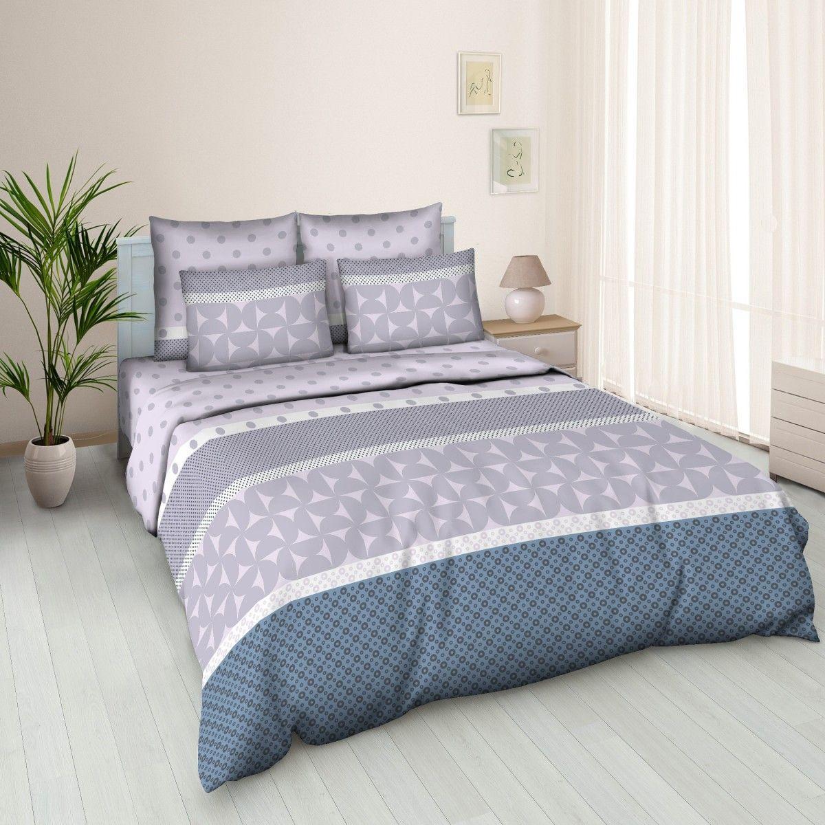 Комплект белья Amore Mio Solo, 2-спальный, наволочки 70x70, цвет: серый, синий83338Постельное белье из бязи практично и долговечно, а самое главное - это 100% хлопок! Материал великолепно отводит влагу, отлично пропускает воздух, не капризен в уходе, легко стирается и гладится. Новая коллекция Naturel 3-D дизайнов позволит выбрать постельное белье на любой вкус!