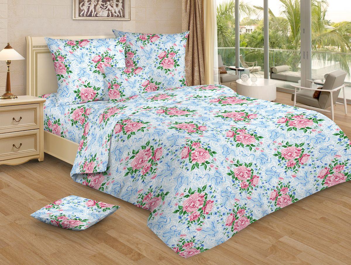 Комплект белья Amore Mio, 1,5-спальный, наволочки 70x70, цвет: голубой, розовый83922Комплект постельного белья Amore Mio является экологически безопасным для всей семьи, так как выполнен из бязи (100% хлопок). Постельное белье оформлено оригинальным рисунком и имеет изысканный внешний вид. Легкая, плотная, мягкая ткань отлично стирается, гладится, быстро сохнет. Комплект состоит из пододеяльника, простыни и двух наволочек.