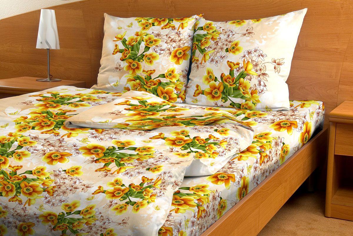 Комплект белья Amore Mio Vanilla, 1,5-спальный, наволочки 70x70, цвет: желтый, зеленый, бежевый83932Комплект постельного белья Amore Mio является экологически безопасным для всей семьи, так как выполнен из бязи (100% хлопок). Постельное белье оформлено оригинальным рисунком и имеет изысканный внешний вид. Легкая, плотная, мягкая ткань отлично стирается, гладится, быстро сохнет. Комплект состоит из пододеяльника, простыни и двух наволочек.