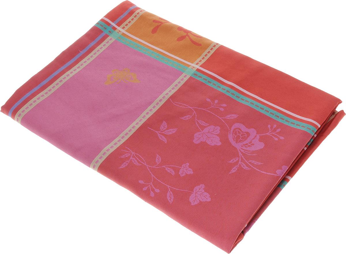 Скатерть Schaefer, прямоугольная, цвет: красный, оранжевый, розовый, 160 x 220 см80653Прямоугольная скатерть Schaefer, выполненная из плотного полиэстера, станет украшением кухонного стола. Изделие оформлено оригинальным принтом. За текстилем из полиэстера очень легко ухаживать: он не мнется, не садится и быстро сохнет, легко стирается, более долговечен, чем текстиль из натуральных волокон.Использование такой скатерти сделает застолье торжественным, поднимет настроение гостей и приятно удивит их вашим изысканным вкусом. Также вы можете использовать эту скатерть для повседневной трапезы, превратив каждый прием пищи в волшебный праздник и веселье. Это текстильное изделие станет изысканным украшением вашего дома!