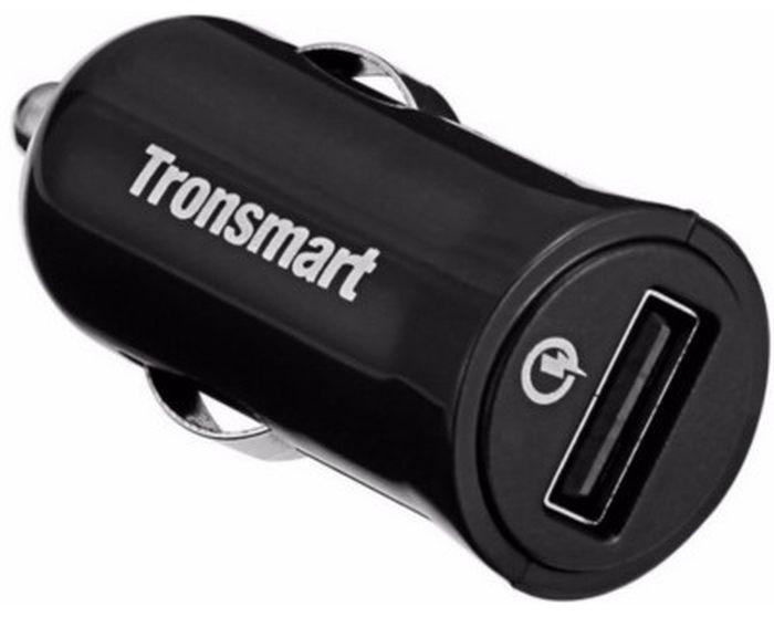 Автомобильное зарядное устройство Tronsmart CC1Q Quick Car Charger, 1 порт QC2.0 + кабель USB-microUSB, 1 метрCC1QTronsmart CC1Q - это высококачественное автомобильное зарядное устройство. Данное ЗУ подключается к бортовой сети автомобиля с помощью разъема прикуривателя. Включенная в устройство защита позволит сохранить вам ваше устройство от различных поломок, связанных с непостоянством тока в сети. Также рассматриваемая модель обеспечивает быструю зарядку девайсов с поддержкой Qualcomm Quick Charge 2.0. Стоит также отметить, что данное зарядное устройство обладает высочайшей надежностью и увеличенным сроком службы, которые обеспечиваются благодаря использованию в его конструкции исключительно высококачественных элементов.