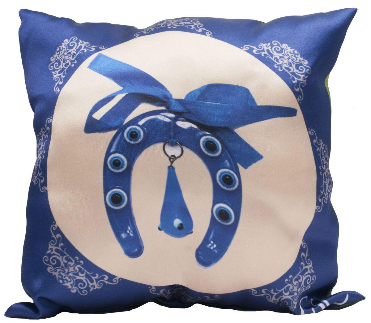 Подушка декоративная Главдор GL-519. Амулет от сглаза. Чтение Корана детьми, с рисунком, 30х30 смGL-519Декоративные подушки c апликацией в салон автомобиля.