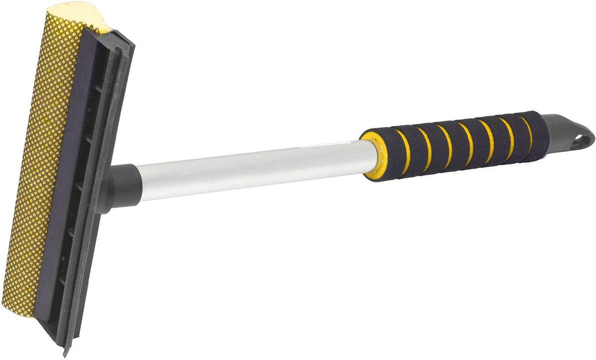 Водосгон Главдор GL-567, на алюминиевой ручке, длина: 43 см, цвет: желтый790009Водосгон на алюминиевой ручке сдержателем из пенополиэтилена. Снабжен резиновым лезвием и поролоновой губкой для эффективной очистки загрязненных поверхностей.