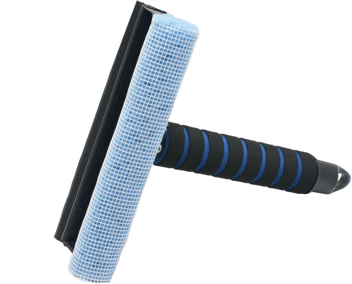 Водосгон Главдор GL-572, с мягкой ручкой, цвет: голубой10503Водосгон смягким держателем из пенополиэтилена. Снабжен резиновым лезвием и поролоновой губкой для эффективной очистки загрязненных поверхностей.