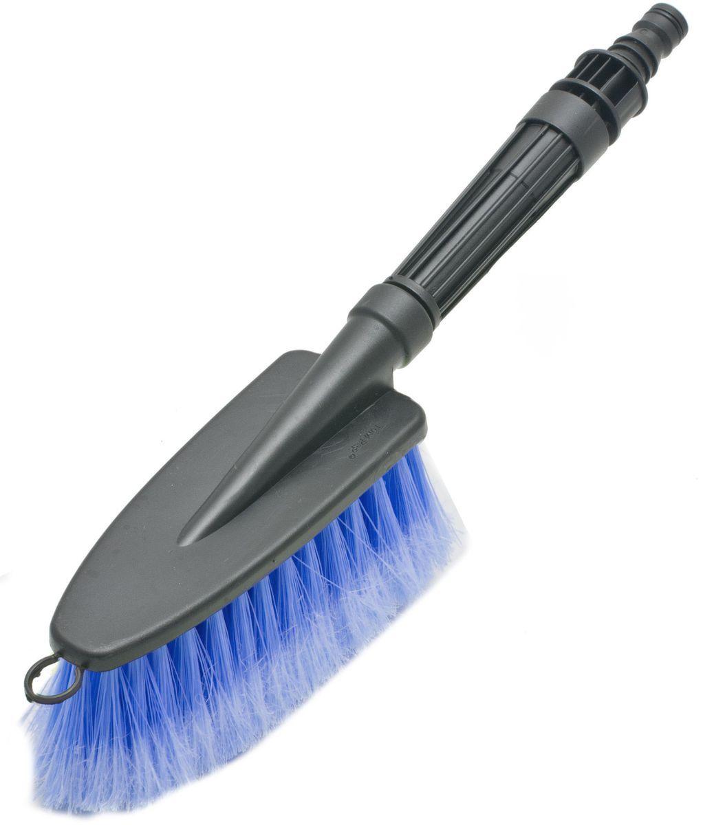 Щетка для мытья под шланг Главдор GL-581, с двойным клапаном, цвет: голубойCA-3505Щетка для мытья с мягкой, распушенной щетиной, изготовлена из прочного пластика. Снабжена адаптером (насадкой) дляподключения к шлангу идвойным клапаном.