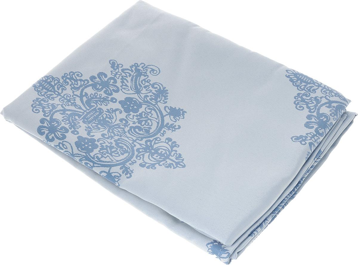 Скатерть Schaefer, квадратная, цвет: серебристо-голубой, синий, 150 х 150 см. 07811-41607811-416Квадратная скатерть Schaefer, выполненная из полиэстера с оригинальным рисунком, станет изысканным украшением кухонного стола. За текстилем из полиэстера очень легко ухаживать: он не мнется, не садится и быстро сохнет, легко стирается, более долговечен, чем текстиль из натуральных волокон. Использование такой скатерти сделает застолье торжественным, поднимет настроение гостей и приятно удивит их вашим изысканным вкусом. Также вы можете использовать эту скатерть для повседневной трапезы, превратив каждый прием пищи в волшебный праздник и веселье. Это текстильное изделие станет изысканным украшением вашего дома!