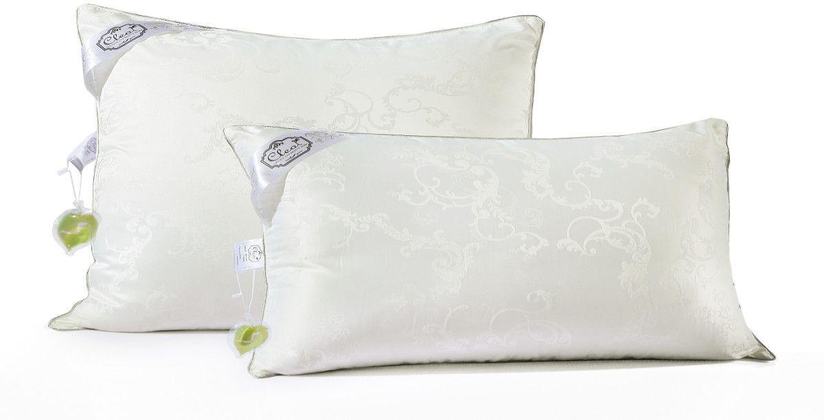 "Cleo Textile Подушка Cleo ""Silk Pillow"", наполнитель: шелк, цвет: белый, 50 х 70 см 50/001-SP"