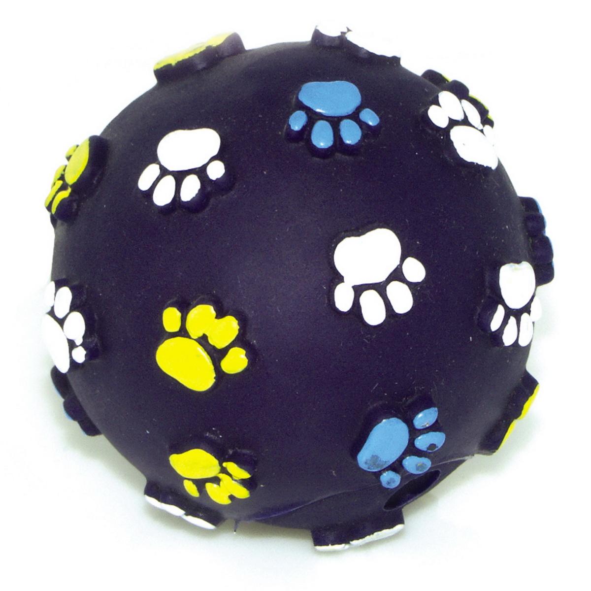 Игрушка для собак Dezzie Мяч. Лапы, цвет: темно-синий, диаметр 6,2 см5604002Игрушка для собак Dezzie Мяч. Лапы изготовлена из винила в виде мяча с изображением лап. Такая игрушка практична, функциональна и совершенно безопасна для здоровья животного. Ее легко мыть и дезинфицировать. Игрушка очень легкая, поэтому собаке совсем нетрудно брать ее в пасть и переносить с места на место. Игрушка для собак Dezzie Мяч. Лапы станет прекрасным подарком для неугомонного четвероногого питомца. Диаметр мяча: 6,2 см.