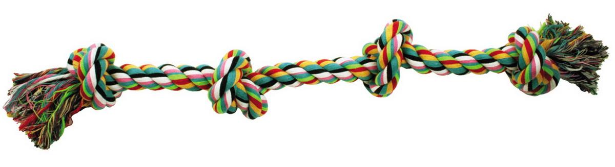 Игрушка для собак Dezzie Канат с узлами, длина 55 см5608009Игрушка для собак Dezzie Канат с узлами изготовлена из натуральной хлопковой веревки поэтому не только увлекательна, но и полезна для здоровья домашних животных. Во время игры питомец тренирует десны и очищает свои зубы от камня. Веревочные игрушки - это одни из самых популярных игрушек для собак. Длина игрушки: 55 см.