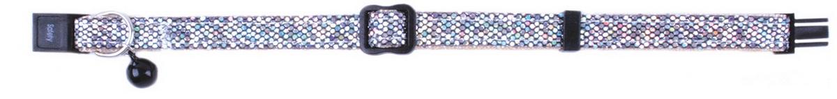 Ошейник для кошек Dezzie, цвет: голубой, обхват шеи 21-33 см, ширина 1 см. 56093860120710Ошейник для кошек. Стильная и красивая амуниция. Имеет эффектный внешний вид.