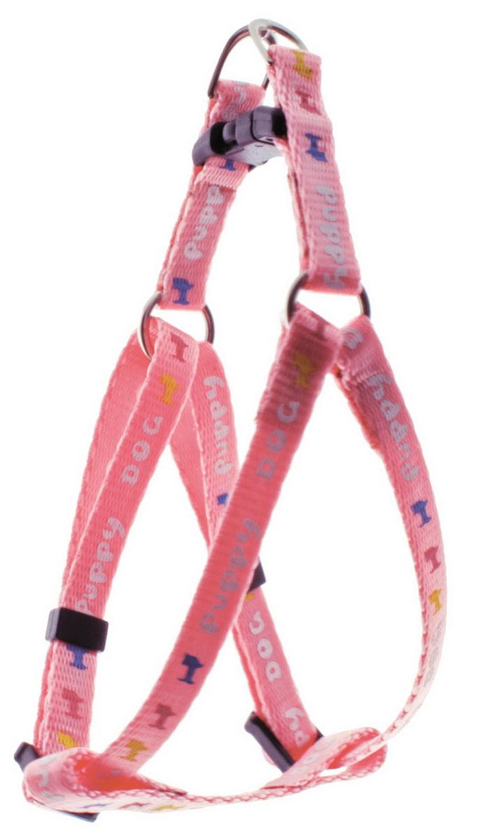 Шлейка для мини-собак Dezzie, цвет: розовый, ширина 0,8 см, обхват груди 22-29 см0120710Шлейка Dezzie, изготовленная из нейлона подходит для мини-собак. Крепкие металлические и пластиковые элементы делают ее надежной и долговечной. Шлейка - это альтернатива ошейнику. Правильно подобранная шлейка не стесняет движения питомца, не натирает кожу, поэтому животное чувствует себя в ней уверенно и комфортно. Изделие отличается высоким качеством, удобством и универсальностью. Имеется металлическое кольцо для крепления поводка. Размер регулируется при помощи пряжек.Ширина шлейки: 0,8 см. Обхват шеи: 22-29 см. Обхват груди: 22-29 см.
