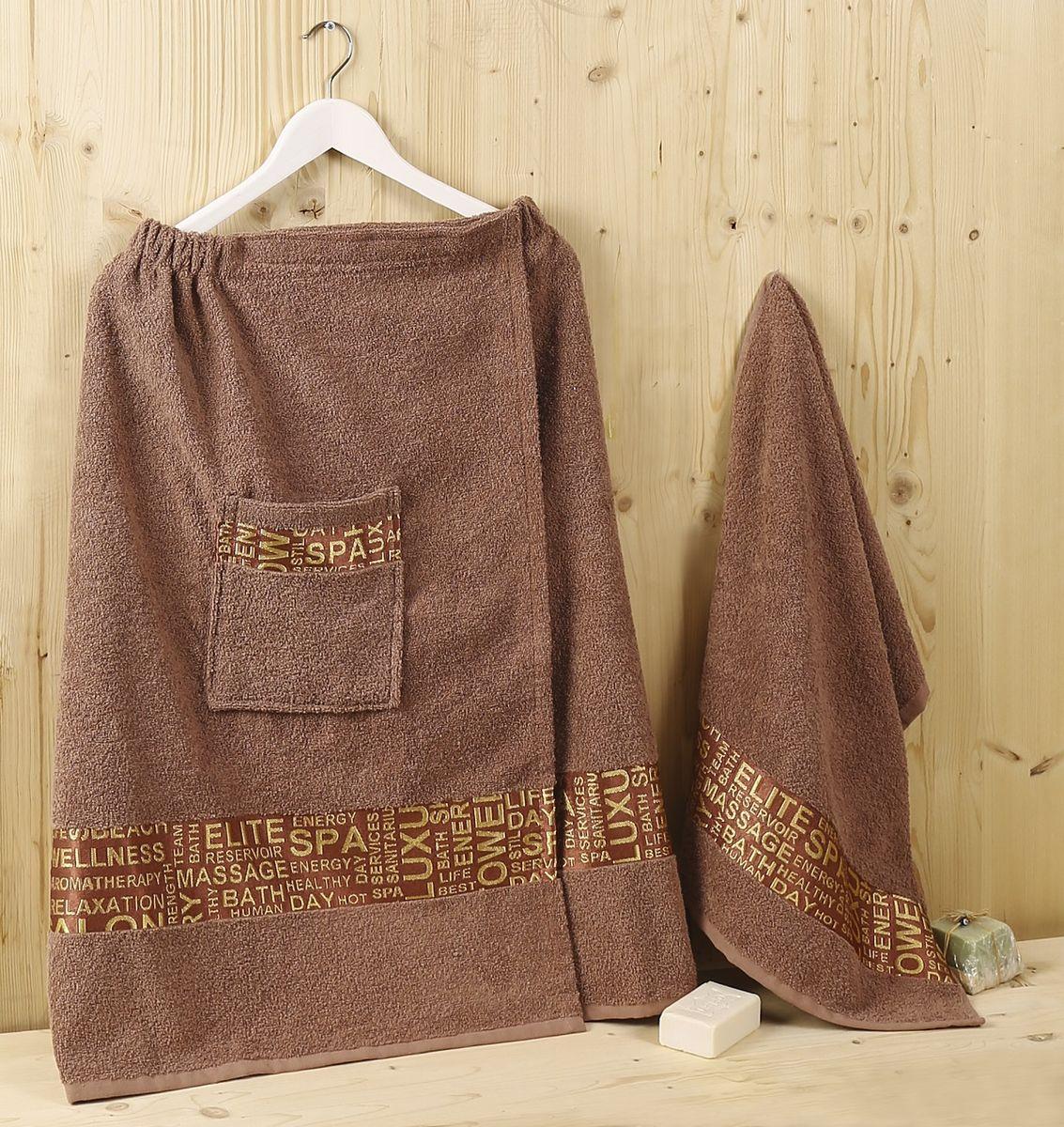 Набор для сауны Karna Relax, цвет: коричневый, 2 предмета1239/CHAR002
