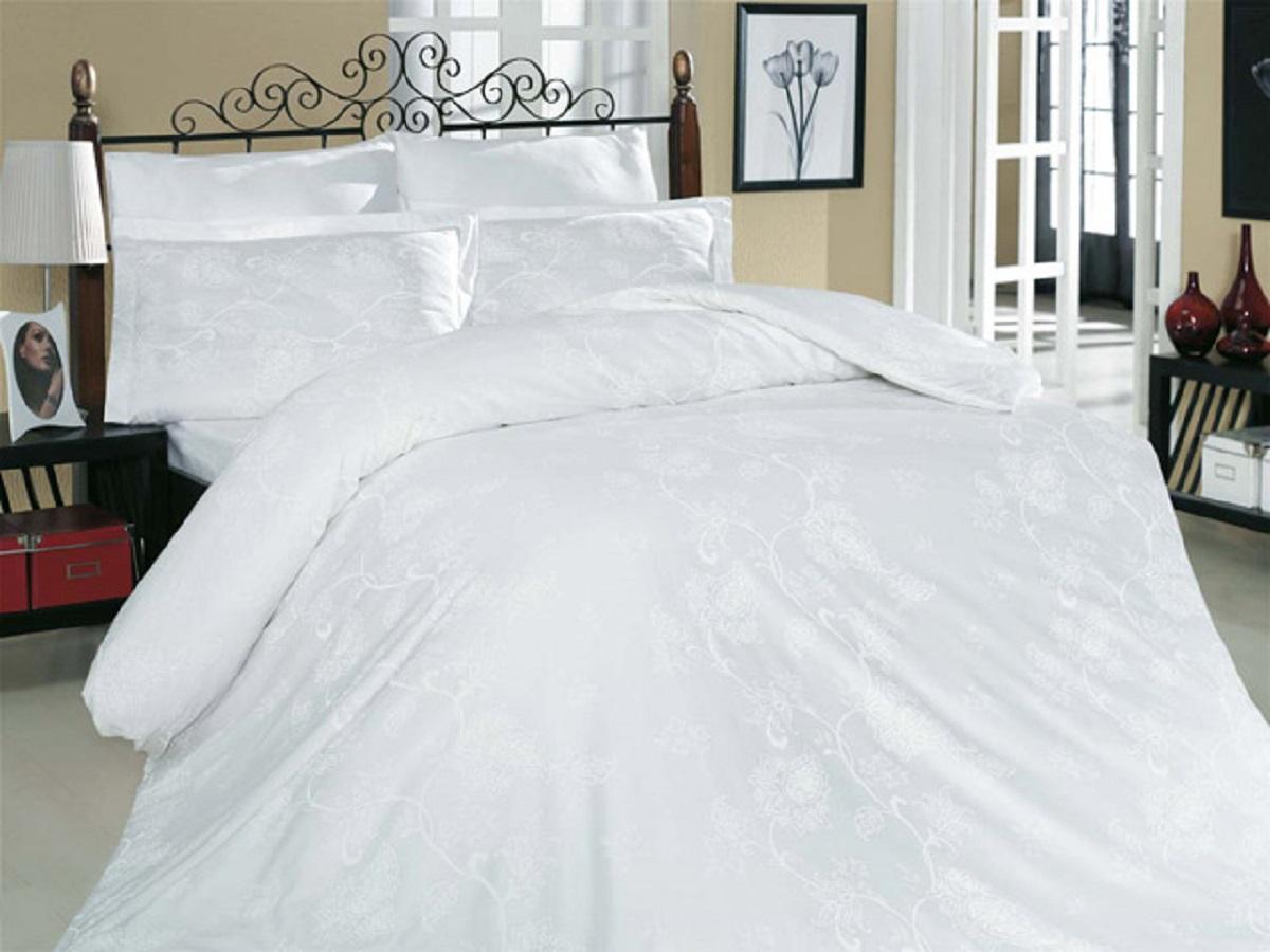 Комплект белья Altinbasak Sehrazat, 2-спальный, наволочки 50х70, цвет: белый255/2/30/CHAR001