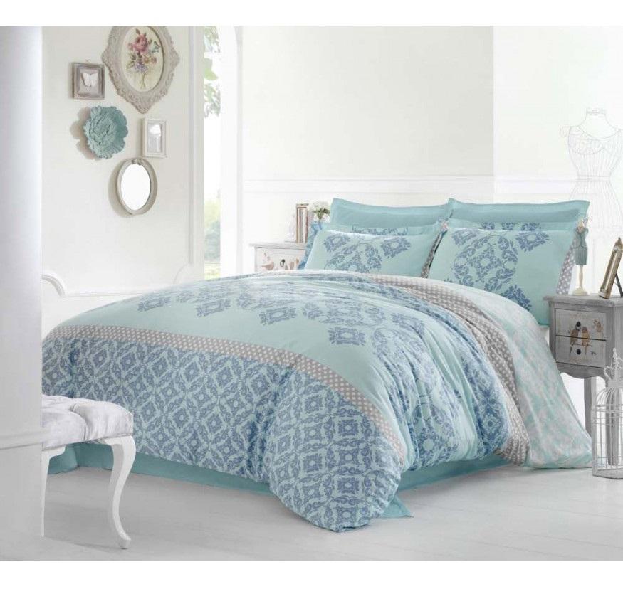 Комплект белья Altinbasak Alona, 2-спальный, наволочки 50х70, цвет: голубой256/22/CHAR003