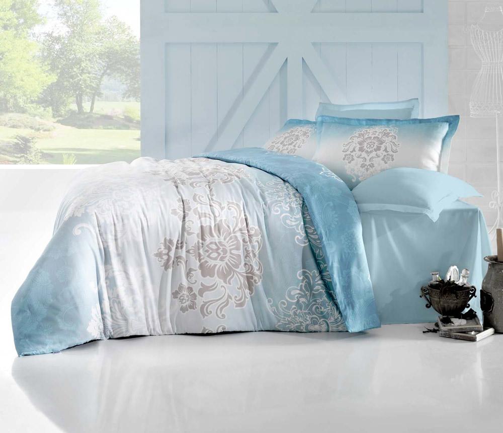 Комплект белья Altinbasak Ilma, 2-спальный, наволочки 50х70, цвет: голубой256/25/CHAR003