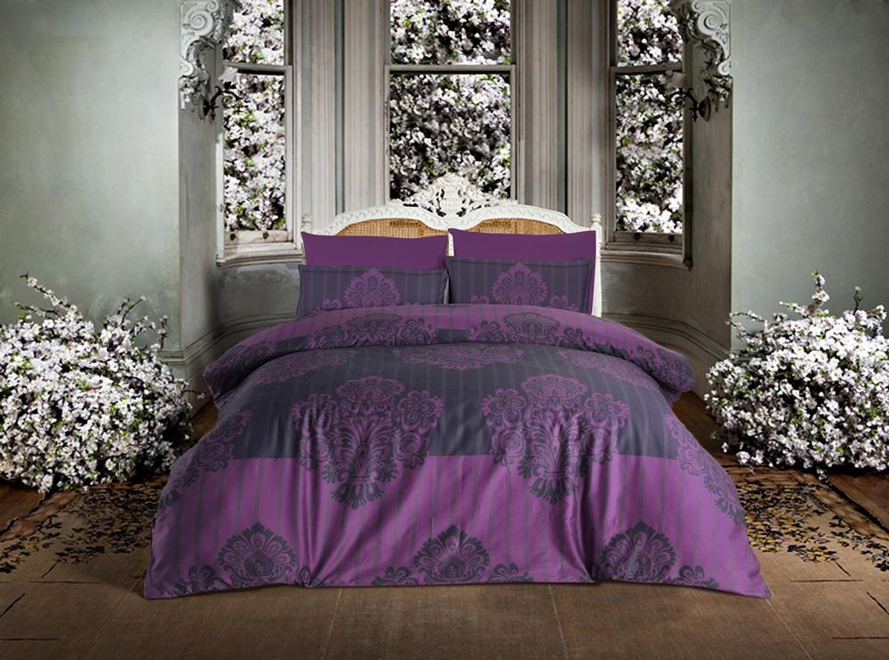 Комплект белья Altinbasak Barok, 2-спальный, наволочки 50х70, цвет: фиолетовый256/5/CHAR001