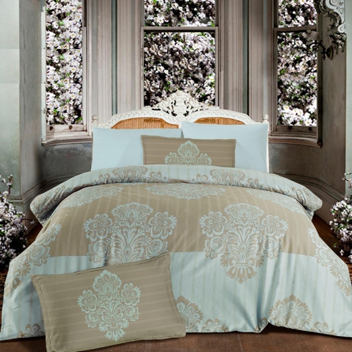 Комплект белья Altinbasak Barok, 2-спальный, наволочки 50х70, цвет: бежевый256/5/CHAR002