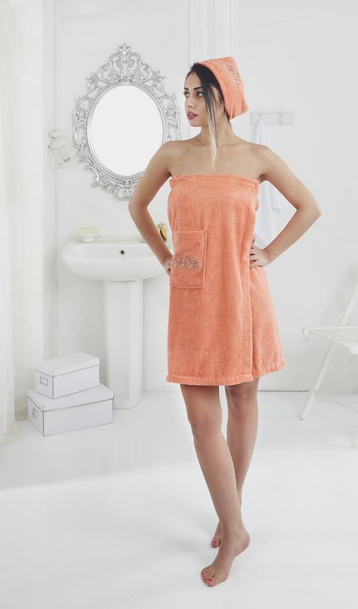 Набор для сауны женский Karna Pera, цвет: оранжевый, 2 предмета2607/CHAR003