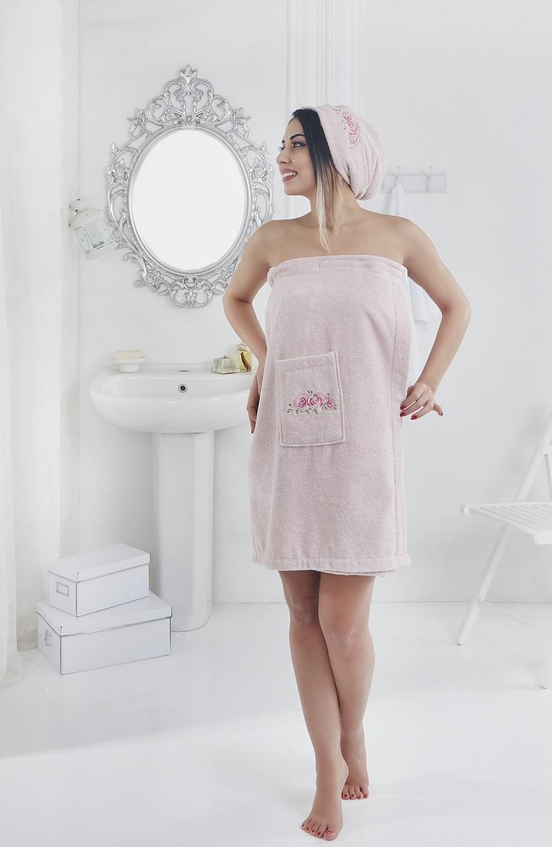Набор для сауны женский Karna Pera, цвет: розовый, 2 предмета2607/CHAR004